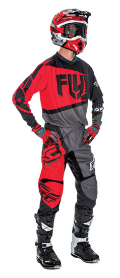 Bluza FLY RACING F-16 2017 Red/Black/Grey