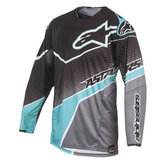 Bluza off-road Alpinestars TECHSTAR BLACK/DARK GRAY/ TEAL